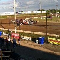 Photo taken at Merritville Speedway by Teresa M. on 6/14/2014