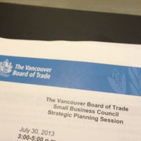 Photo taken at Vancouver Board of Trade by Anthony T. on 7/30/2013
