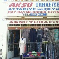 Photo taken at aksu tuhafiye by Arif A. on 6/20/2013