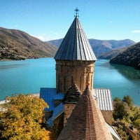 Photo taken at Ananuri Castle Complex by Ivan P. on 10/9/2013