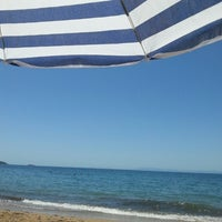 Photo taken at skalakia beach by Amanda K. on 7/10/2014