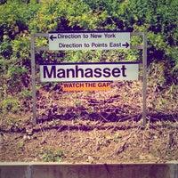 Photo taken at LIRR - Manhasset Station by Delaney P. on 6/15/2013