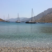 Photo taken at palionhsos beach by Philippos M. on 7/30/2016