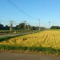 Photo taken at 矢田野踏切 by Kouki T. on 9/17/2013