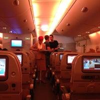 Photo taken at Emirates Flight 354 by Samuel B. on 5/13/2013