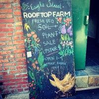 Photo prise au Eagle Street Rooftop Farms par Rachelle L. le6/1/2014