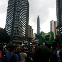 Photo taken at Praça Sete de Setembro (Praça 7) by Lorrany C. on 6/19/2013
