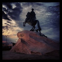 Photo taken at Bronze Horseman by Ivan K. on 6/24/2013