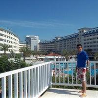 Photo taken at side Crystal Admiral Resort by Özgür on 6/8/2013