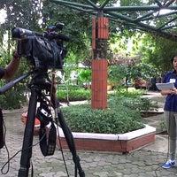 Photo taken at Taman Flora by Dinda A. on 4/5/2014