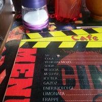 Photo taken at Cine Cafe by Birvan K. on 6/24/2013