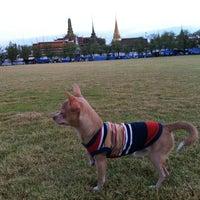 Photo taken at Sanam Luang by Chayapa on 5/7/2013