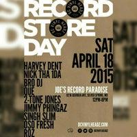Photo taken at Joe's Record Paradise by Bobby (DJ Oso Fresh) A. on 4/18/2015