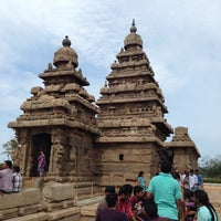 Photo taken at Shore Temple by Aravind V. on 7/20/2013