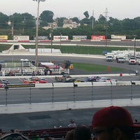 Photo taken at Nashville Fairgrounds Speedway by Wendie P. on 6/9/2013