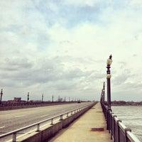 Photo taken at MacArthur Bridge by Detroiting on 4/18/2013