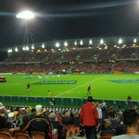 Photo taken at Waikato Stadium by Jared D. on 5/7/2016
