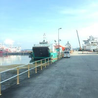 Photo taken at Loyang Offshore Supply Base Jetty by Jamal K. on 4/29/2016