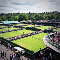 Photo taken at The All England Lawn Tennis Club by Mallory B. on 6/25/2013