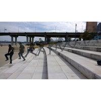 Photo taken at Han River Bicycle Path 한강 자전거도로 by Ramberry on 10/6/2013