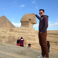 Photo taken at Great Sphinx of Giza by Tilo G. on 1/21/2013