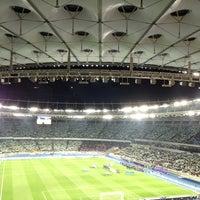Photo taken at Olimpiyskiy Stadium by Oleh F. on 11/15/2013