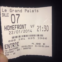 Photo taken at Cinéma Le Grand Palais by Mikail S. on 1/22/2014