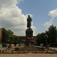 Photo taken at Памятник А. С. Пушкину by Ангел С. on 6/25/2013
