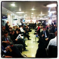 Photo taken at London City Airport (LCY) by Tommaso S. on 10/30/2012