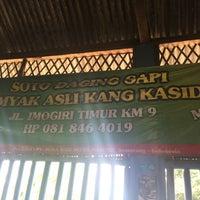 Photo taken at Soto Sapi Gumyak Kang Kasidi by Samasike on 4/30/2017