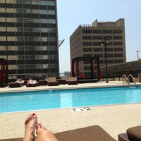 Photo taken at Rooftop Pool Deck by Lisa L. on 5/17/2013