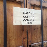 Photo taken at Satan's Coffee Corner by Paula H. on 3/7/2014