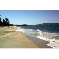 Photo taken at Playa Los Canales by Alvaro Omar M. on 2/8/2014