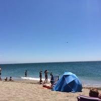 Photo taken at Playa Marina Beach by Andrei S. on 7/7/2014