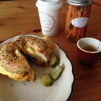 Photo taken at Beauty's Bagel Shop by Xande M. on 10/30/2012
