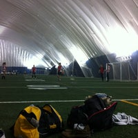 Photo taken at Varsity Stadium by Lisa B. on 2/5/2013