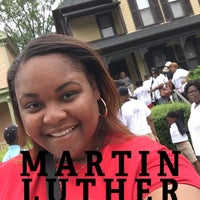 Photo taken at Martin Luther King Jr. Birth Home by Monique K. on 7/1/2017