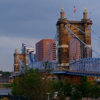 Photo taken at John A Roebling Suspension Bridge by Tony M. on 7/24/2014