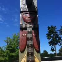 Photo taken at Totem Poles in Stanley Park by Travis F. on 6/7/2014