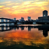 Photo taken at Kachidoki Bridge by 2風🌬 on 8/8/2013