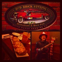 "Photo taken at Red Brick Station Restaurant & Brew Pub by Lisa Marie ""Phoenix"" J. on 1/20/2013"