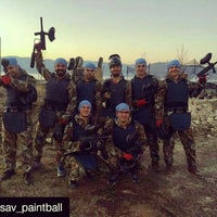 Photo taken at sav paintball by Can B. on 2/20/2016