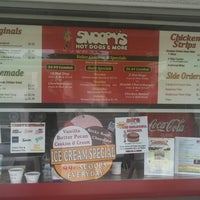 Photo taken at Snoopy's Hot Dogs & More by Matthew C. on 7/14/2013