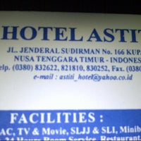 Photo taken at Hotel Astiti by Abdul R. on 10/24/2013