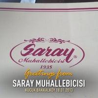 Photo taken at Saray Muhallebicisi by Kerim T. on 1/18/2013