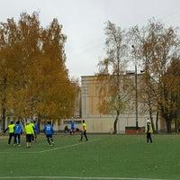 Photo taken at Футбольное Поле Школы 925 by Дмитрий Б. on 10/24/2015
