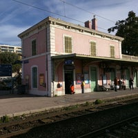 Photo taken at Gare SNCF de Nice Saint-Augustin by Bennet G. on 4/2/2015