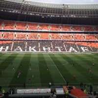 Photo taken at Donbass Arena / Донбасс Арена by Vladimir I. on 4/13/2013