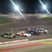 Photo taken at Stateline Speedway by Laura O. on 10/3/2013