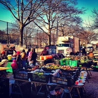 Photo taken at Jackson Heights Greenmarket by Carlos on 12/30/2012